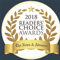 The News and Advance 2018 Readers' Choice 1st Place Award